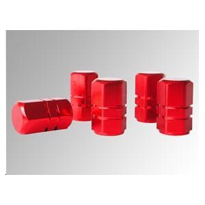 Bouchons de valve aluminium rouge