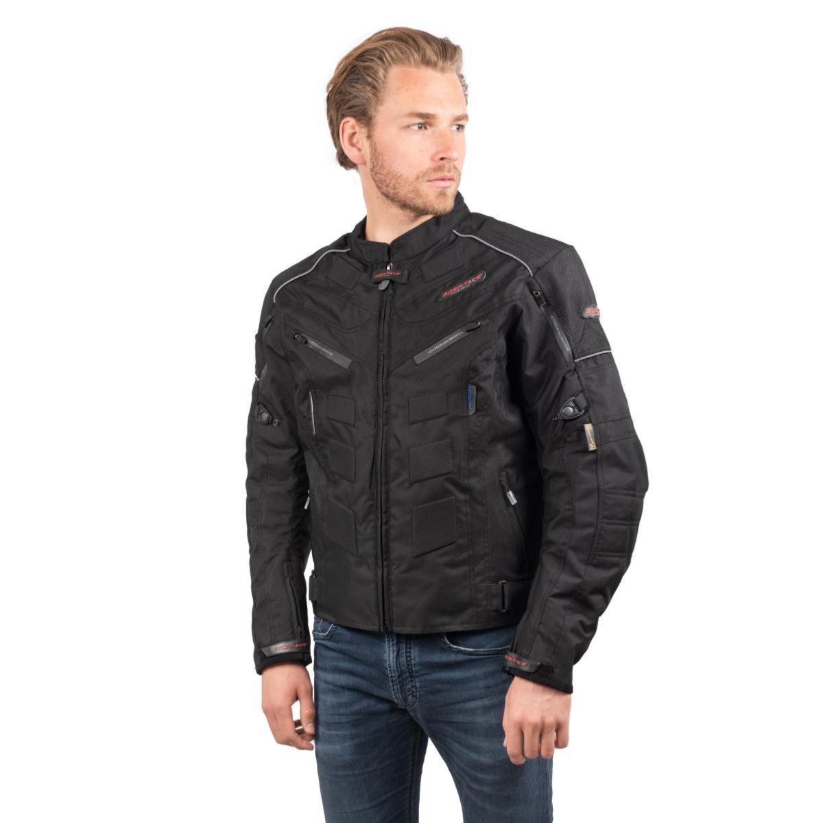 Blouson de Moto Homme Urban Rider-Tec Textile Noir