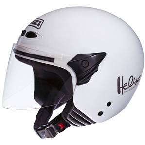 NZI - Casque Moto, Scooter Demi-Jet - HELIX II JR - Blanc brillant