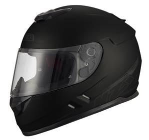 NZI - Casque Moto, Scooter Intégral - FUSION - Noir mat
