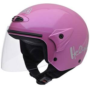 NZI - Casque Moto, Scooter Demi-Jet - HELIX II JR - Rose brillant