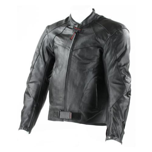 Blouson de Moto Homme Classic Rider-Tec Cuir Noir