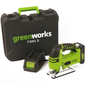 Scie sauteuse sans fil GREENWORKS 24V avec batterie et chargeur