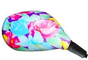 Housse rétroviseur scooter florale ovale