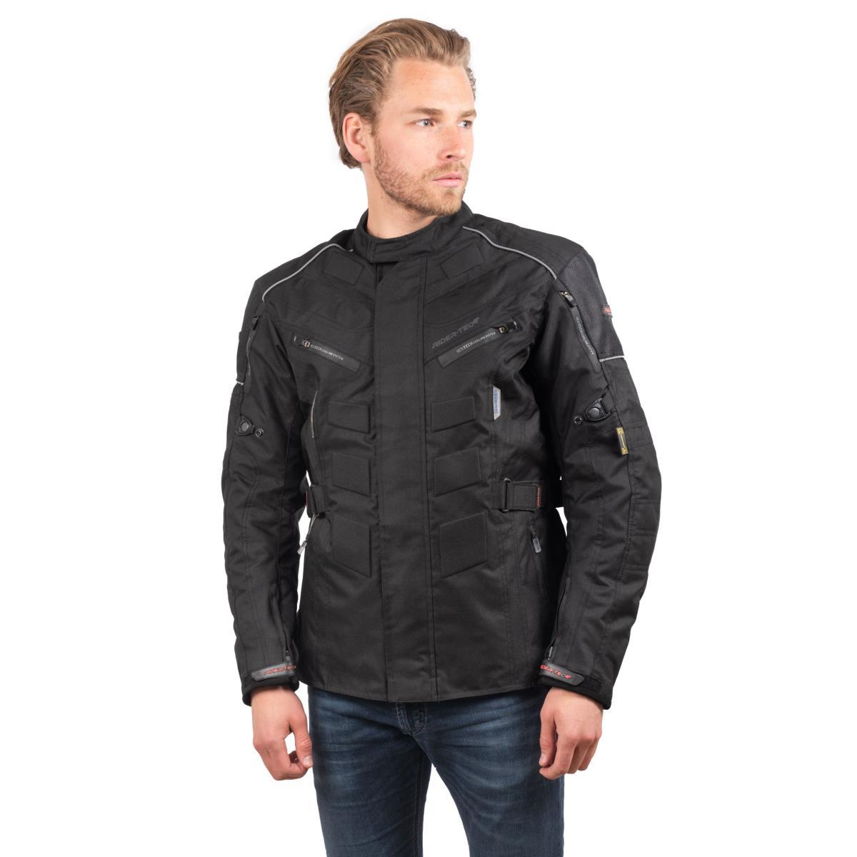 Blouson 3/4 de Moto Homme Urban Long Rider-Tec Textile Noir