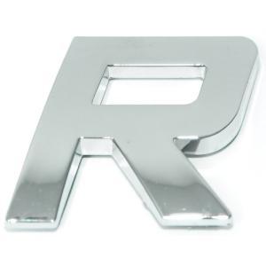 Lettre ''R'' 3D autocollante chromée