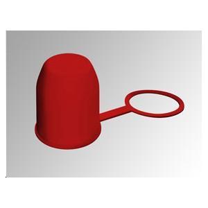 Cache boule PVC rouge avec bague