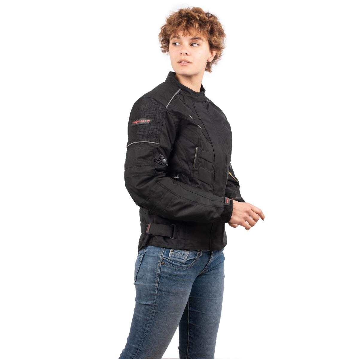 Blouson Moto Femme Urban Lady Rider-Tec Textile Noir
