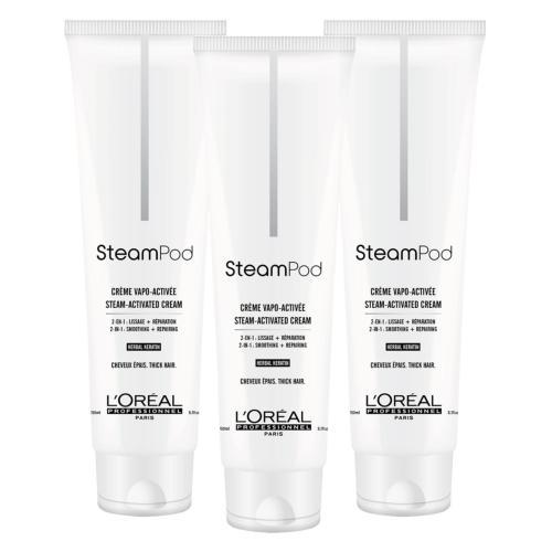 Lot de 3 Crèmes de Lissage Steampod Cheveux Epais 150ml