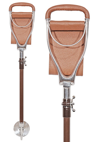 Tirion Field Telescopic Leather Seat Stick - Wide Sling