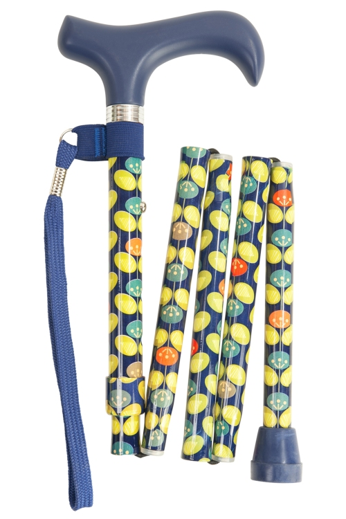 Foldable Walking Stick - 5 Sections - Oval Leaf