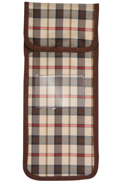 Brown Check Pouch for Folding Sticks