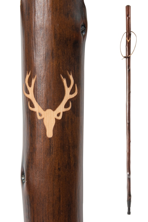 Chestnut Hiking Stave - Stag