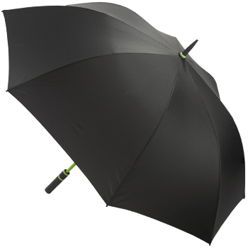 Performance Windfighter Auto Open Golf Umbrella - Anthracite & Lime