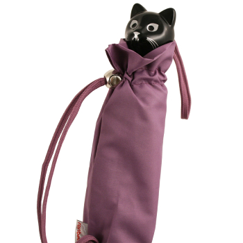 Cat Folding Umbrella by Rainbow of Milan - Lavender