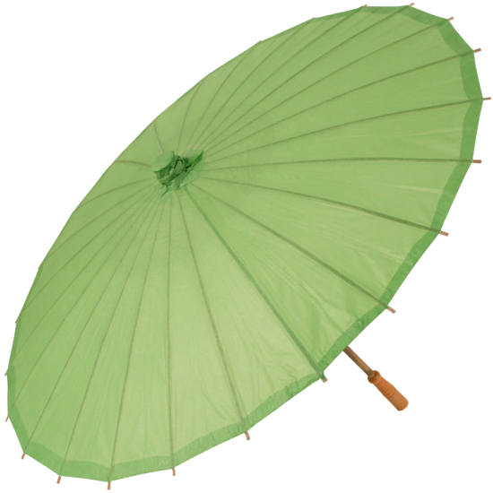 Chinese Paper and Bamboo Parasol - Grass Green