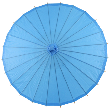 Chinese Paper and Bamboo Parasol - Turquoise