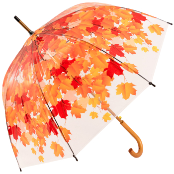 Autumn Leaf Canopy Dome Clear Umbrella - Umbrella Tree