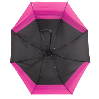 Valentino 'Stretch' Vented Two-Person Umbrella - Black & Pink