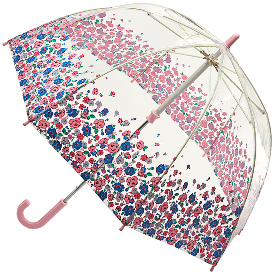 Cath Kidston Clear Dome Funbrella for Children - Mews Ditsy Border