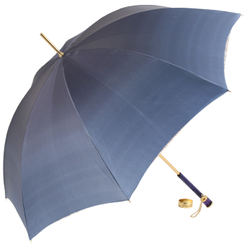Glamour Blue Jewel Luxury Double Canopy Umbrella by Pasotti