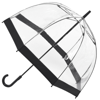 Fulton Birdcage Clear Dome Umbrella - Black Trim