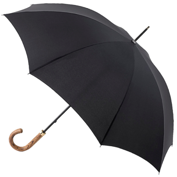 Fulton Commissioner - Black Walking Length Umbrella for Gents