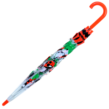 Bugzz PVC Dome Umbrella for Children (New Design) - Spotty Ladybirds