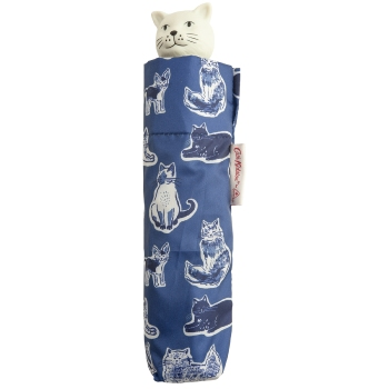 Cath Kidston Minilite Folding Umbrella - Squiggle Cats