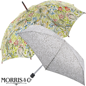 Traditional and classic block designs from Morris & Co, made for them by Fulton Umbrella.