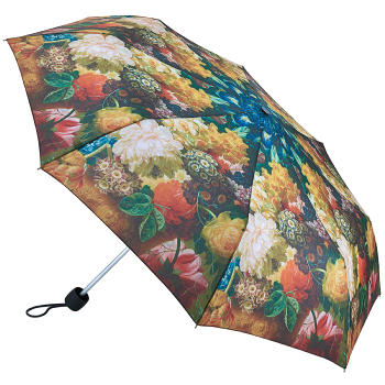 The National Gallery Minilite Folding Umbrella - Flowers in a Vase by Van Brussel