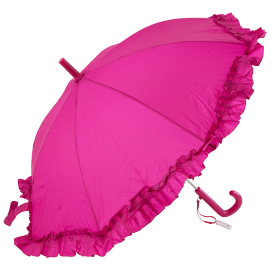 Galleria Kids Magenta Frilly Umbrella