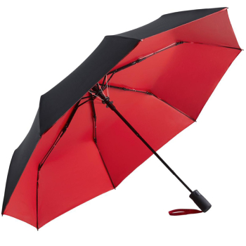 UV Protective SPF50+ Two-Tone Automatic Opening Folding Umbrella - Black & Red