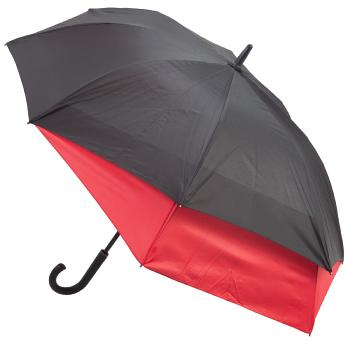Valentino 'Stretch' Vented Two-Person Umbrella - Black & Red