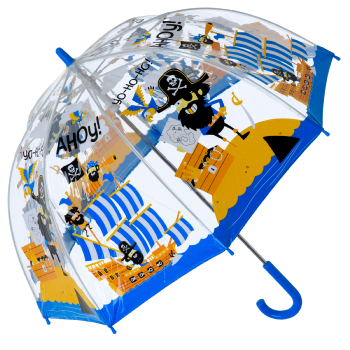 Bugzz PVC Dome Umbrella for Children (New Design) - Pirates