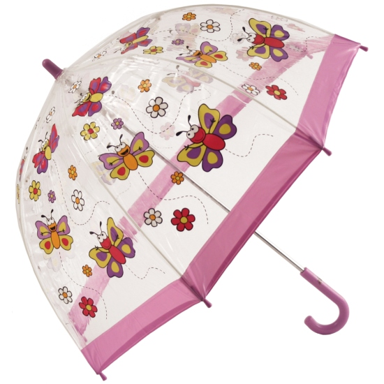 Bugzz PVC Dome Umbrella for Children - Butterflies and Daisies