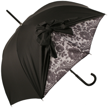 Drape Bow Umbrella in Black and Lace by Chantal Thomass