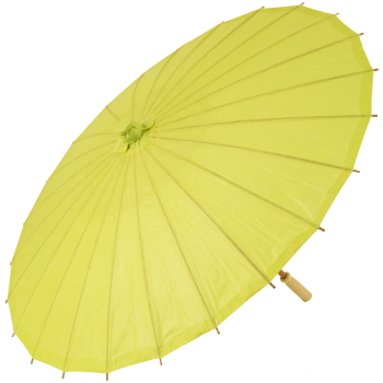 Chinese Paper and Bamboo Parasol - Chartreuse