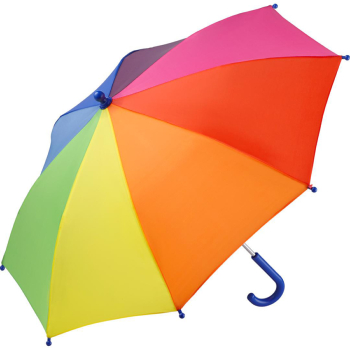 Performance Range Children's Walking Length Umbrella by Fare - Rainbow