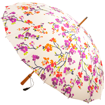 16 Rib Cherry Blossom Ladies Large Umbrella