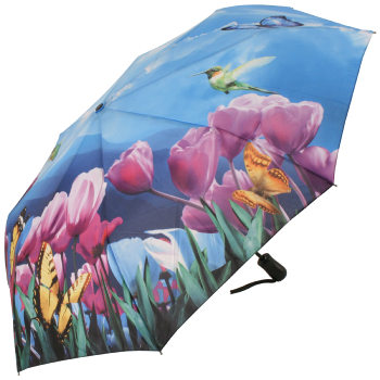 Galleria Art Print Auto Open & Close Folding Umbrella - Tulip Sonata
