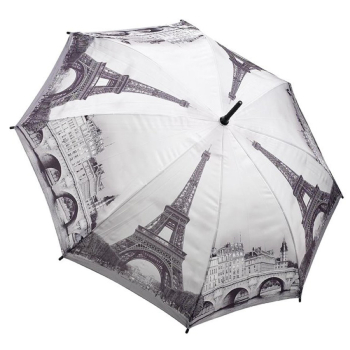 Galleria Art Print Walking Length Umbrella - Paris