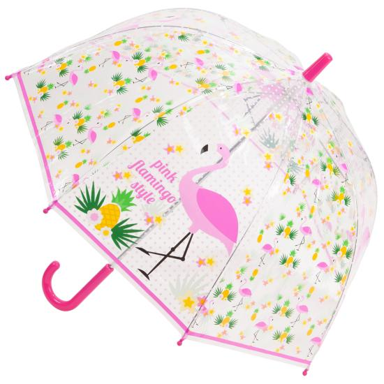 Flamingo Children's See-Through Dome Umbrella