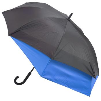 Valentino 'Stretch' Vented Two-Person Umbrella - Black & Blue