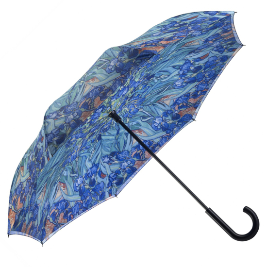 Galleria Art Print Reverse Umbrella - Van Gogh Irises