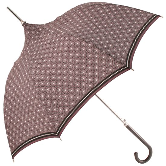 Purple Pagoda Umbrella with Daisy Grid Design by Molly Marais