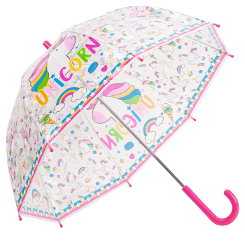 Unicorn Children's See-Through Dome Umbrella