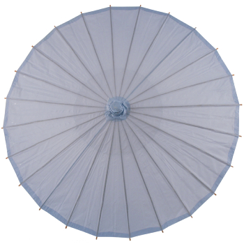 Chinese Paper and Bamboo Parasol - Serenity Blue