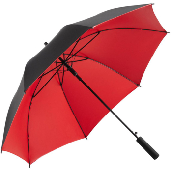 UV Protective SPF50+ Two-Tone Automatic Opening Walking Length Umbrella - Black & Red