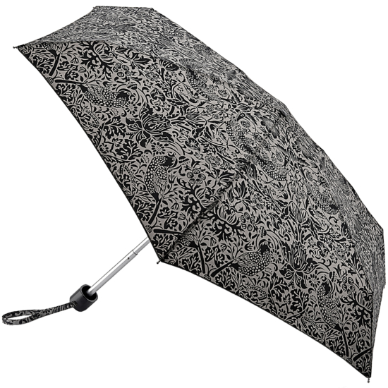 Morris & Co Tiny by Fulton - Lightweight Folding Umbrella - Strawberry Thief Pure